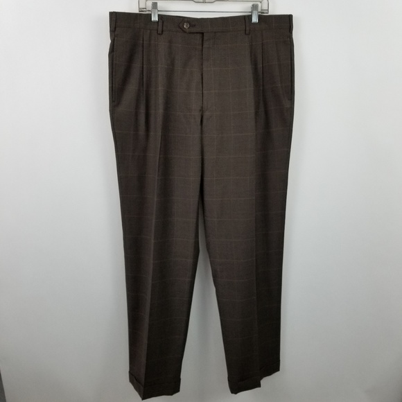 Jos. A. Bank Other - Jos a Bank Brown Houndstooth Pleated Suit Pants